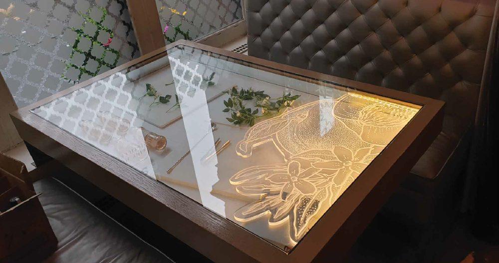 bespoke glass table design