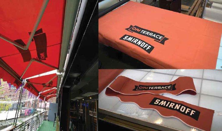 custom printed cafe barriers