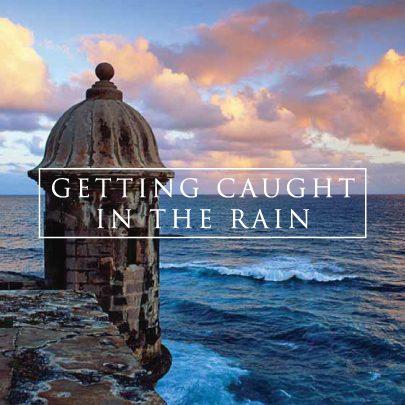 caugh in the rain logo graphic design