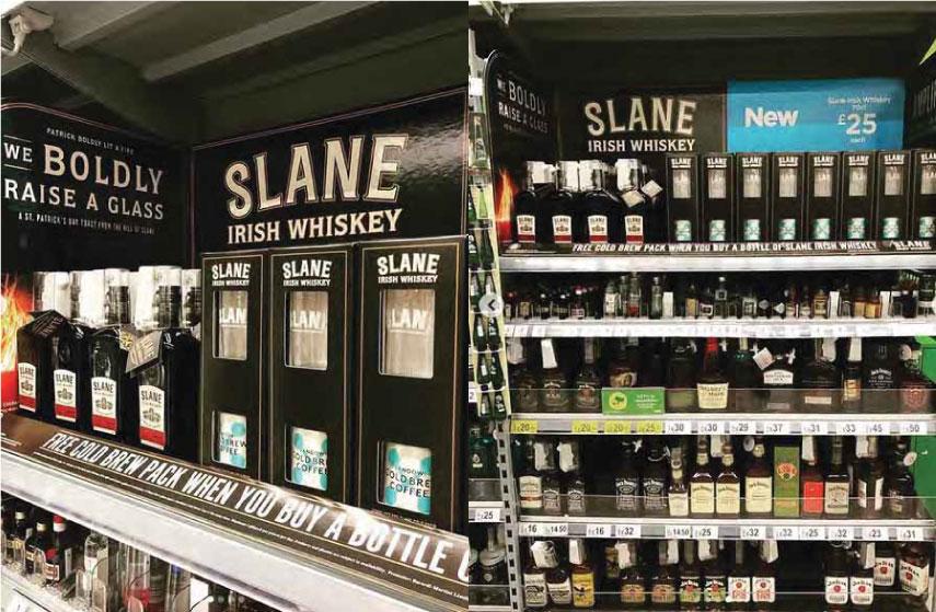 whiskey display signage