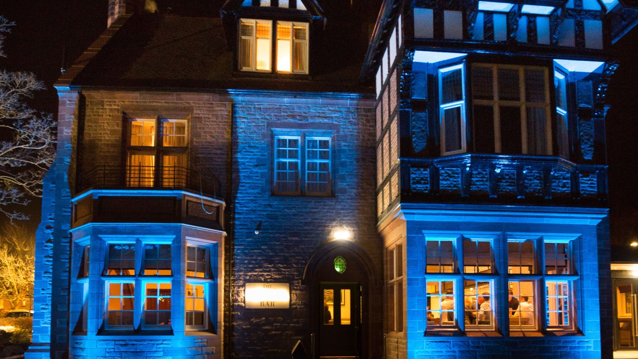 hotel with impressive lighting