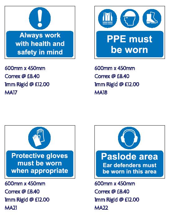 safety signage edinburgh
