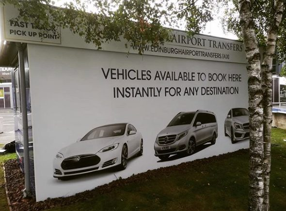 advertising boards cars