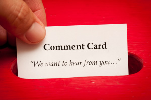printed comment cards